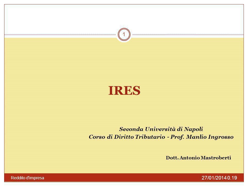 IRES Letteralmente IRES vuol dire Imposta sul reddito delle società.