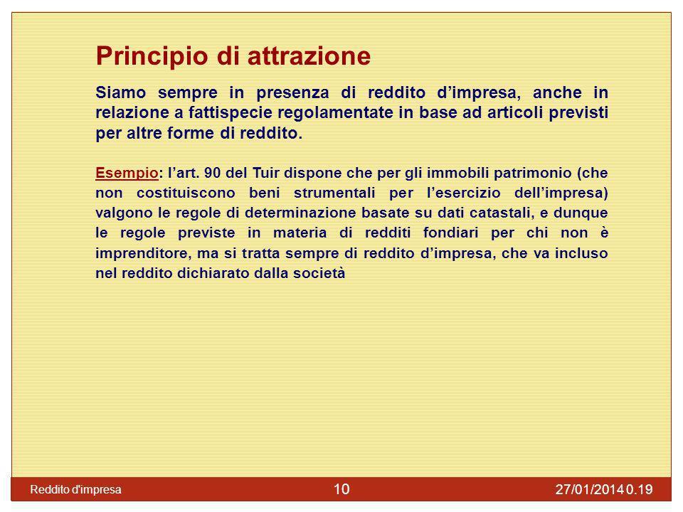 Principio di attrazione: art.6 Art. 6, comma 3, Tuir: per le s.n.c.