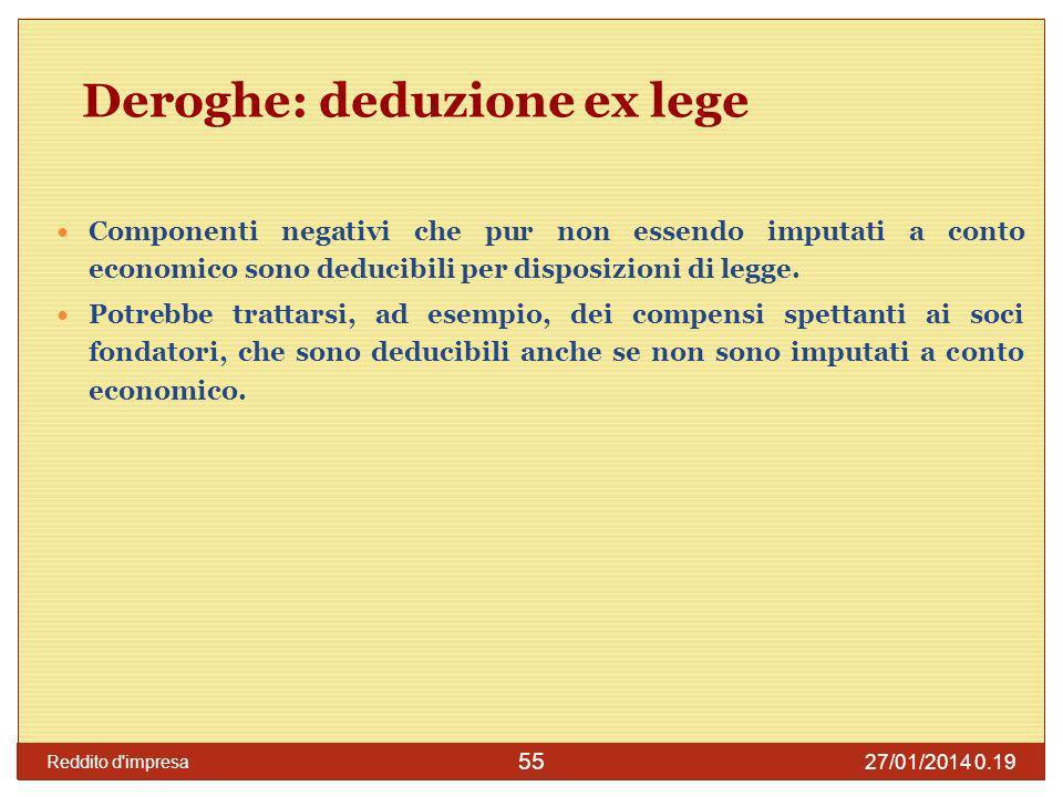 27/01/2014 0.21 Reddito d impresa 56 Spese afferenti ricavi non contabilizzati Lart.