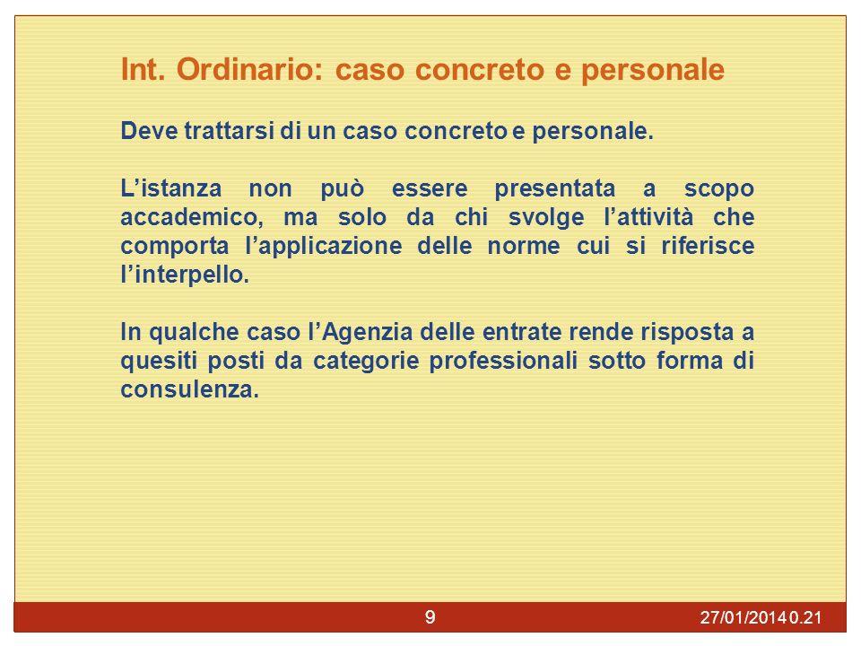 27/01/2014 0.23 9 Int.