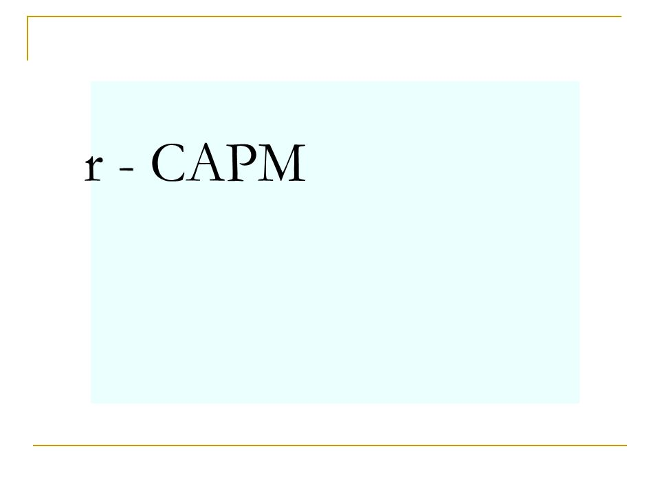 r - CAPM