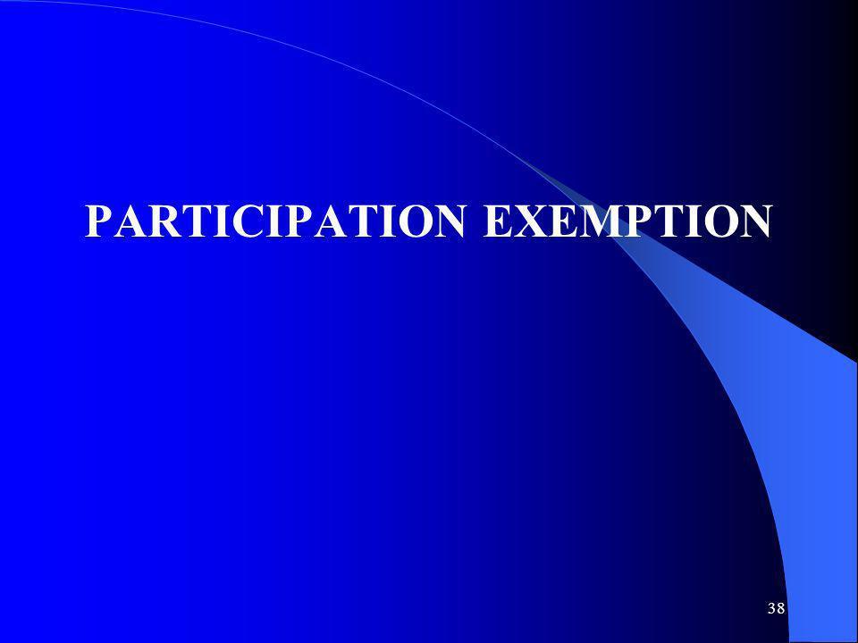 38 PARTICIPATION EXEMPTION