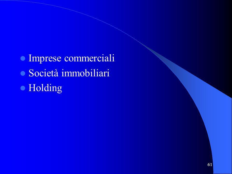 61 Imprese commerciali Società immobiliari Holding