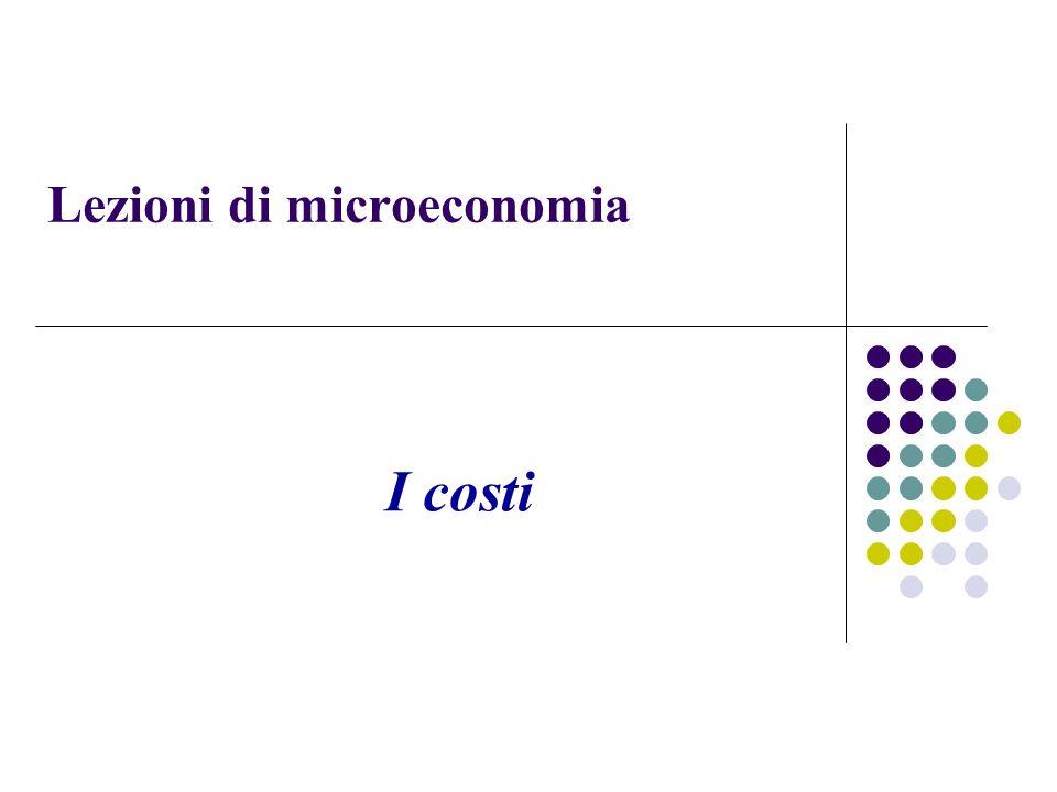 Lezioni di microeconomia I costi