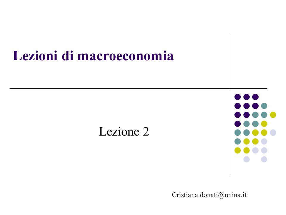 Lezioni di macroeconomia Cristiana.donati@unina.it Lezione 2