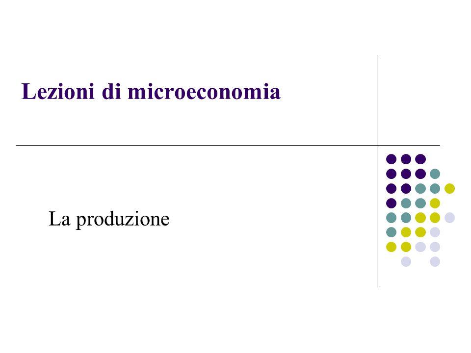Lezioni di microeconomia La produzione