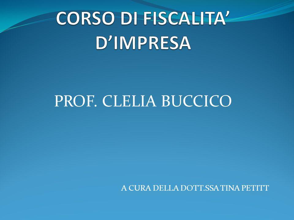 PROF. CLELIA BUCCICO A CURA DELLA DOTT.SSA TINA PETITT