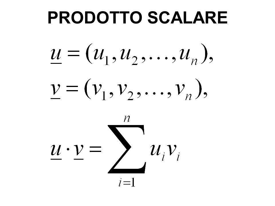 PRODOTTO SCALARE