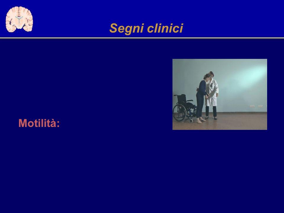 Segni clinici Motilità: