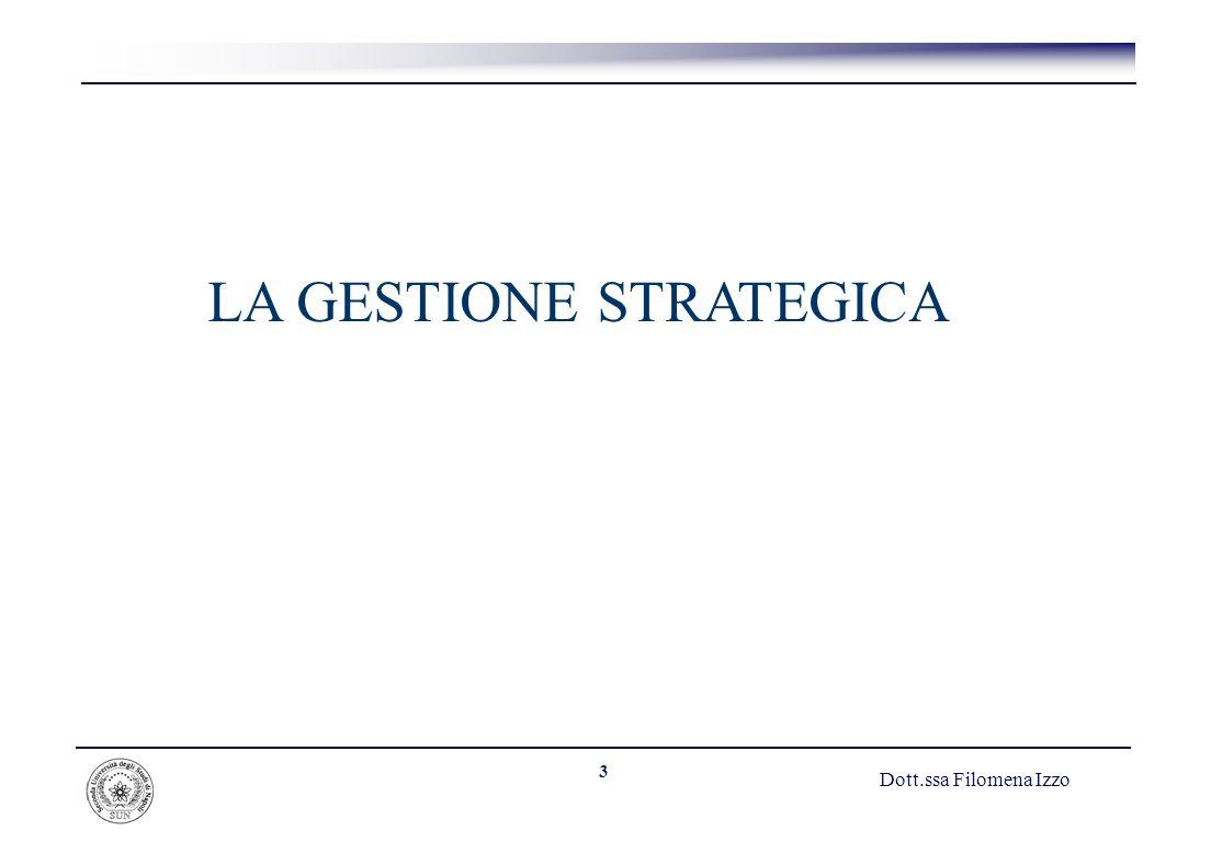 3 LA GESTIONE STRATEGICA