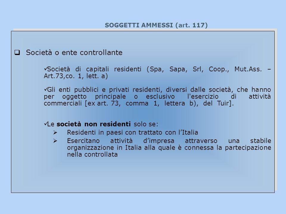 SOGGETTI AMMESSI (art.