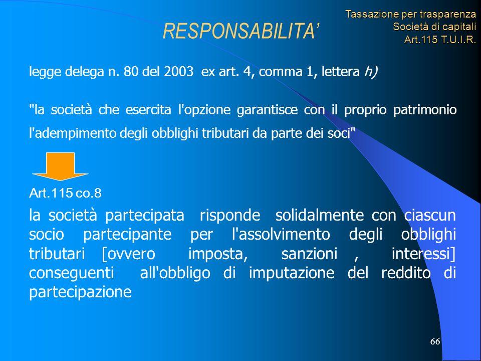 66 legge delega n. 80 del 2003 ex art. 4, comma 1, lettera h)