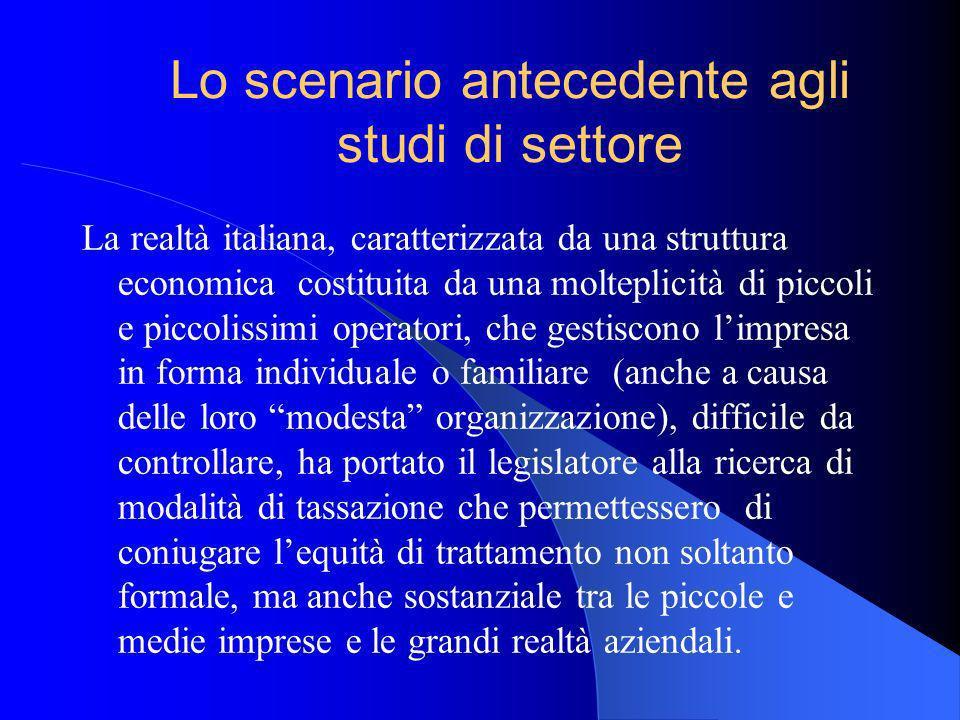 La realtà italiana, caratterizzata da una struttura economica costituita da una molteplicità di piccoli e piccolissimi operatori, che gestiscono limpr