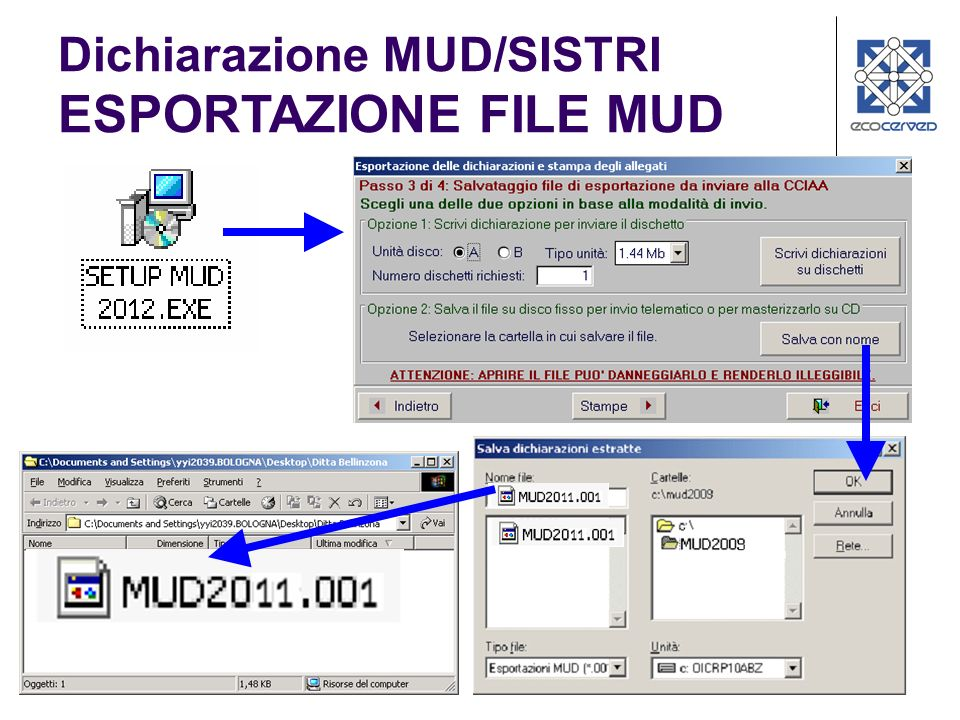 Dichiarazione MUD/SISTRI ESPORTAZIONE FILE MUD