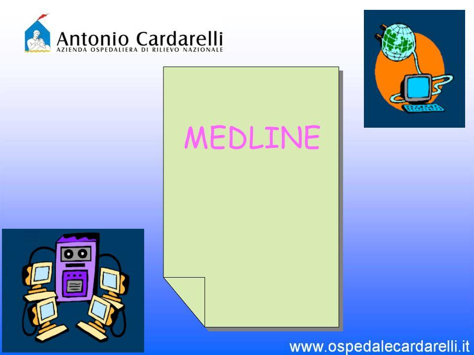 Medline è il più importante database di Pubmed e copre svariati settori scientifici Origini: nasce come lequivalente elettronico dellIndex Medicus, ma include citazioni anche di altri indici a stampa.