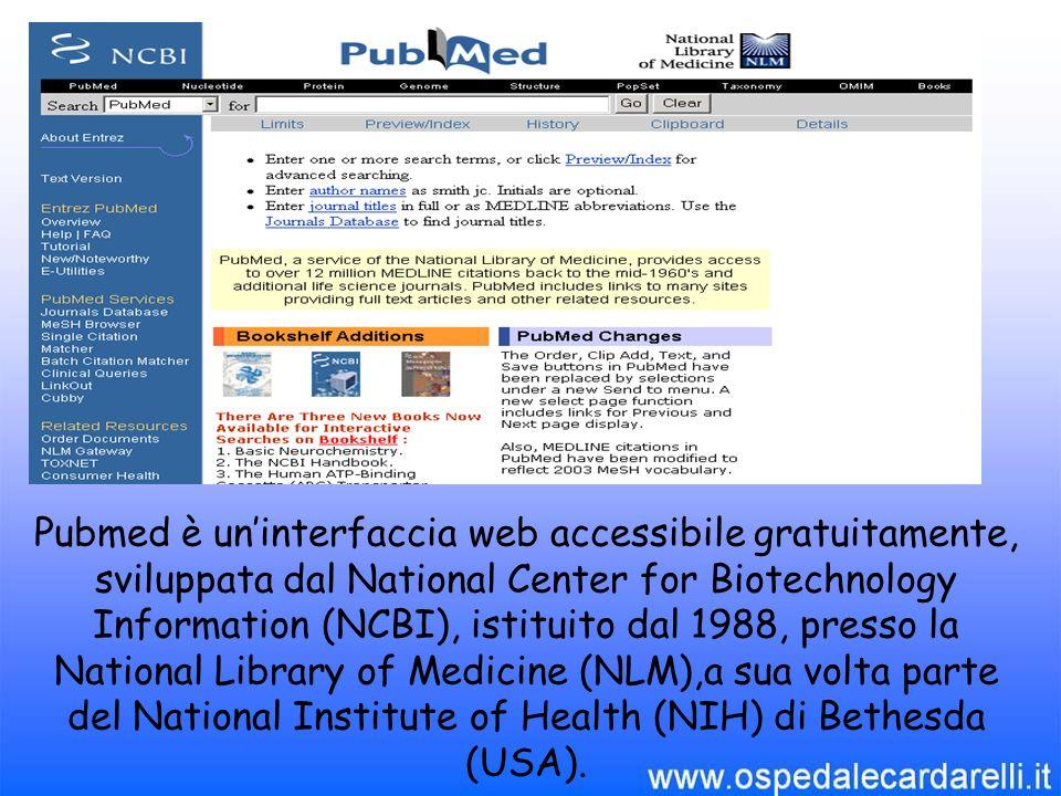 Eaccessibile dal seguente indirizzo: http://www.ncbi.nlm.nih.gov/entrez/query.fcgi