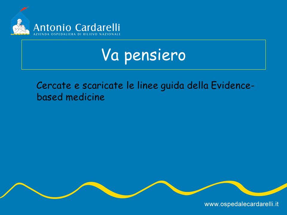 Va pensiero Cercate e scaricate le linee guida della Evidence- based medicine