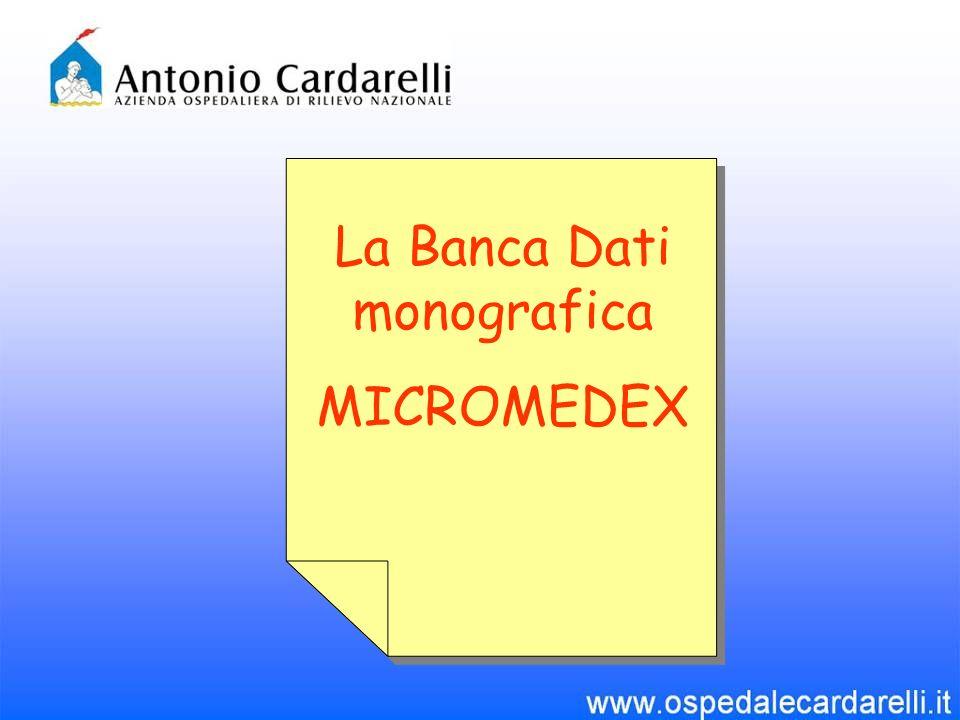 MICROMEDEX® Healthcare Series è una banca dati monografica ed è considerata una delle più autorevoli fonti a disposizione nellambito dellinformazione sui farmaci.