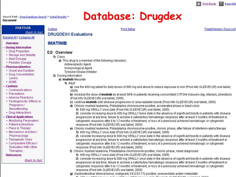 Database: Drugdex