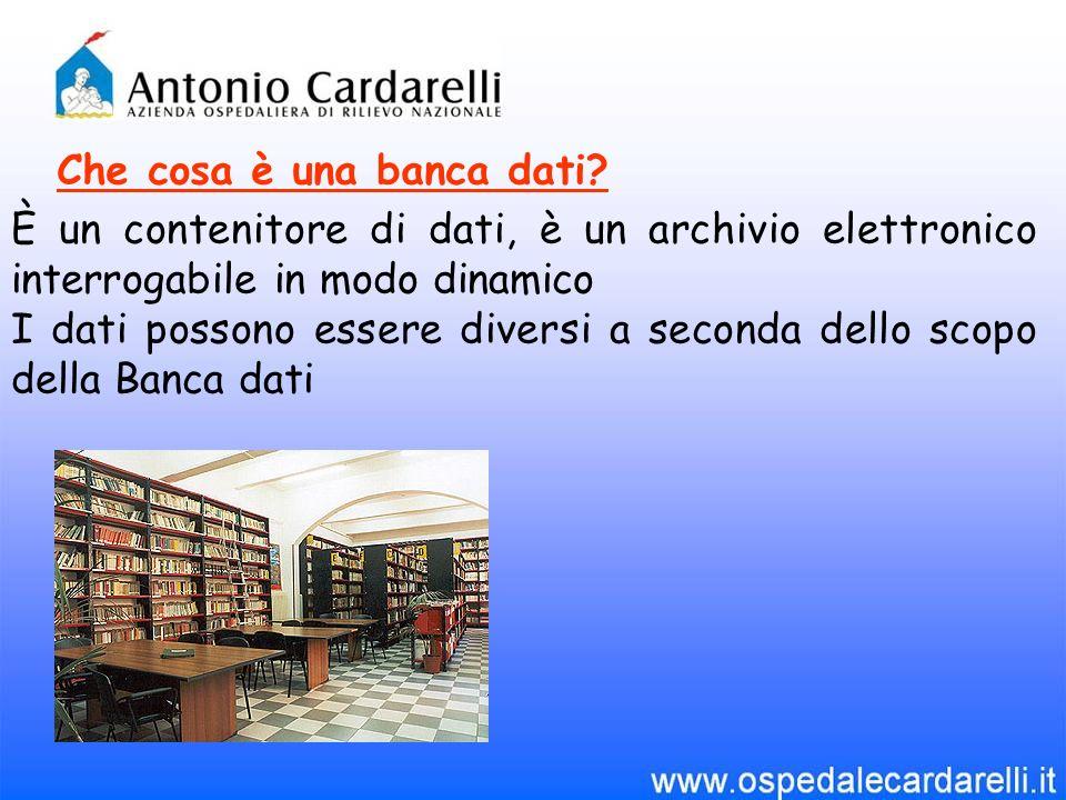 Che cosa è una banca dati? È un contenitore di dati, è un archivio elettronico interrogabile in modo dinamico I dati possono essere diversi a seconda