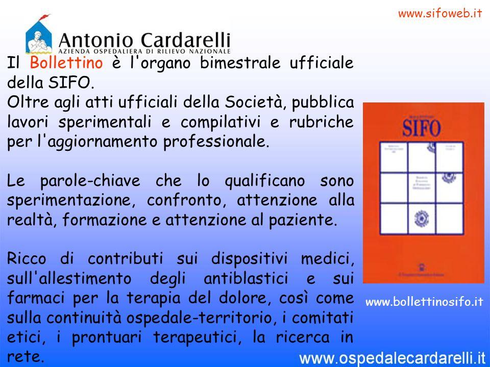 Il Bollettino è l'organo bimestrale ufficiale della SIFO. Oltre agli atti ufficiali della Società, pubblica lavori sperimentali e compilativi e rubric