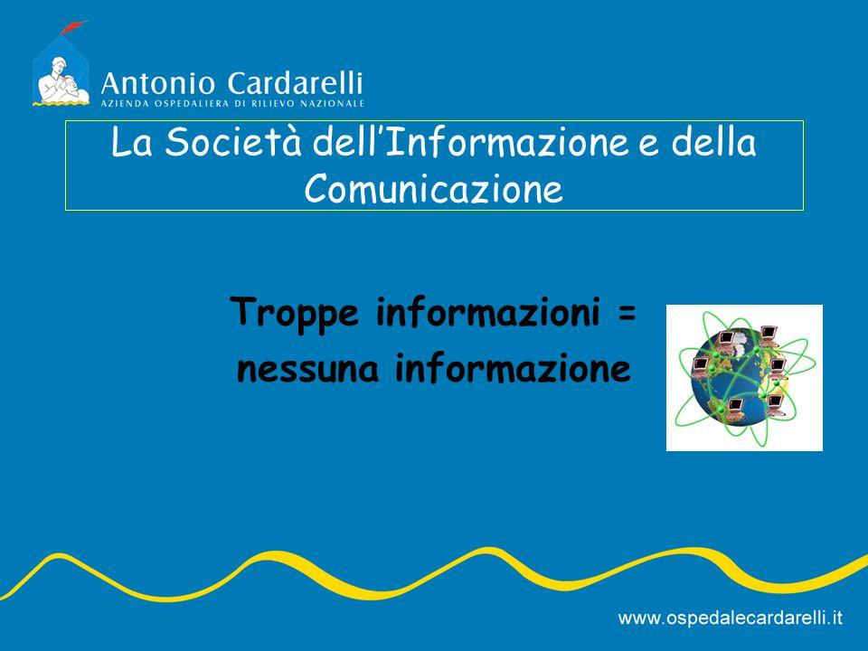 Troppe informazioni = nessuna informazione