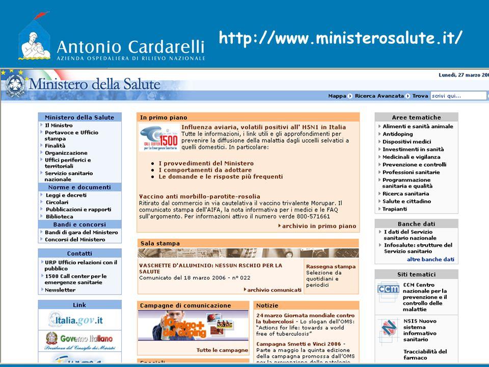 http://www.ministerosalute.it/