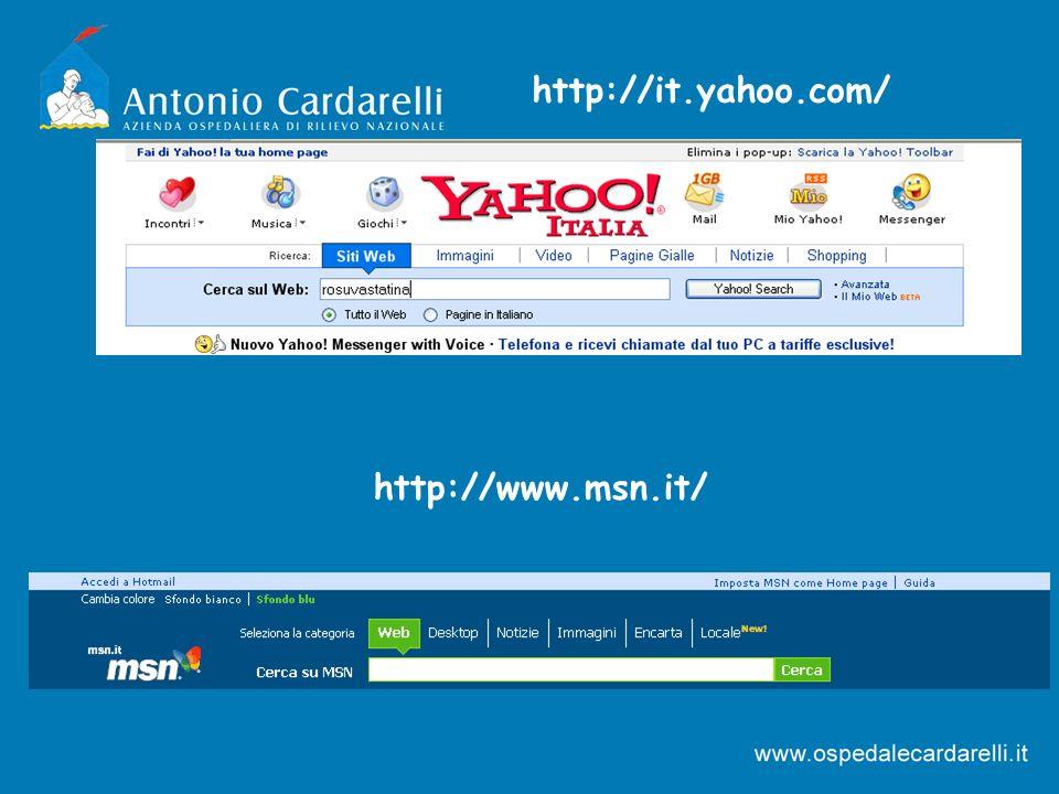 http://it.yahoo.com/ http://www.msn.it/