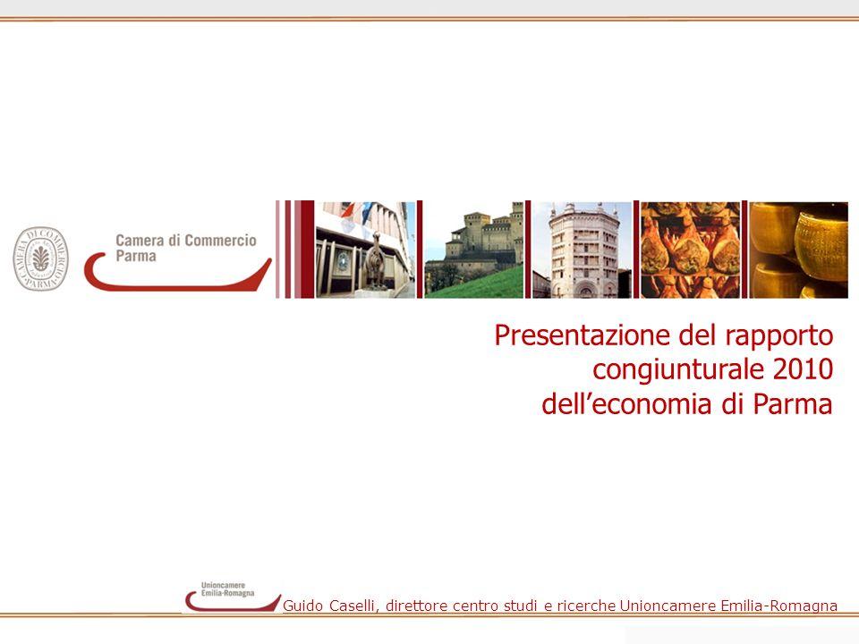 Presentazione del rapporto congiunturale 2010 delleconomia di Parma Guido Caselli, direttore centro studi e ricerche Unioncamere Emilia-Romagna