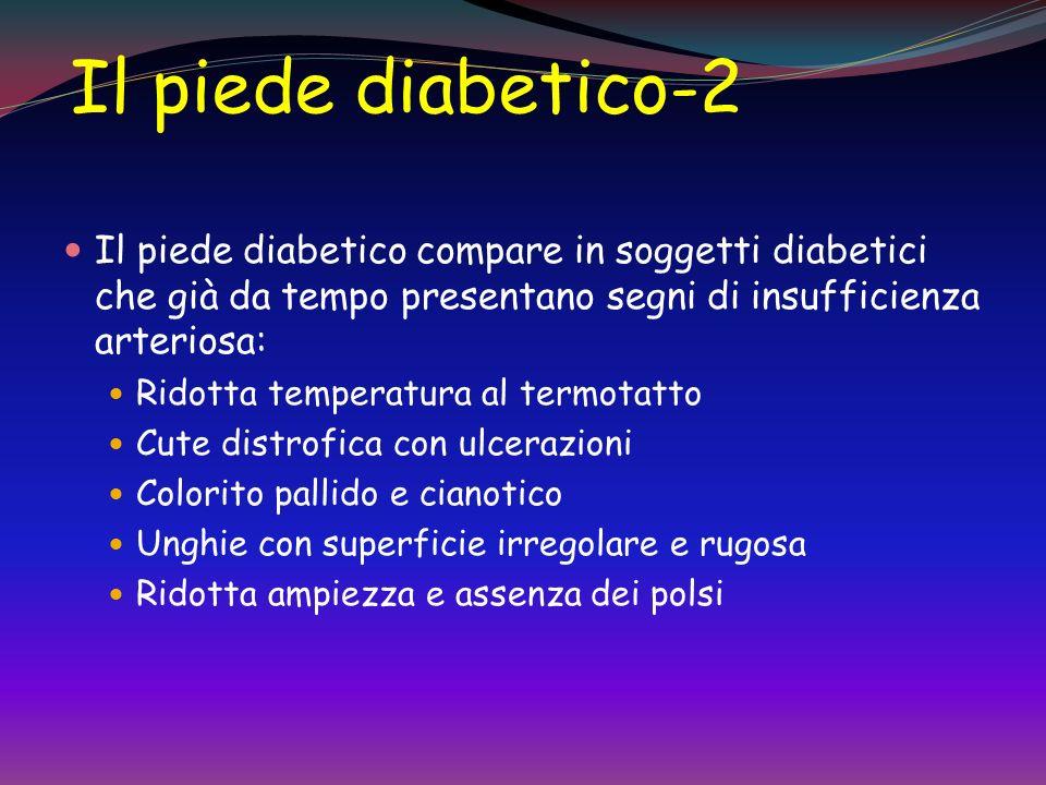 Il piede diabetico-1 amputazione Rappresenta la prima causa di amputazione non traumatica nel mondo occidentale neuropatia diabetica vasculopatia peri