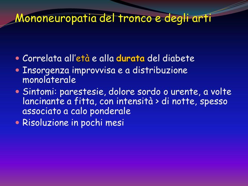 Mononeuropatia dei nervi cranici oftalmoplegiadiabetica Loftalmoplegia diabetica, dovuta allinteressamento del III nervo cranico, è una delle forme pi