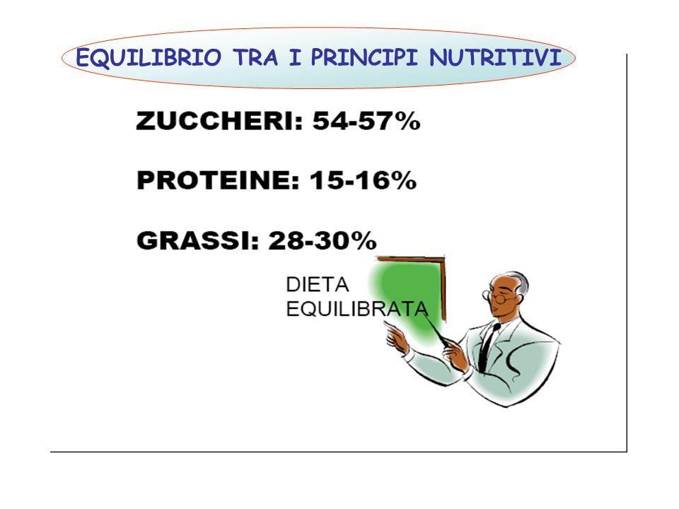 EQUILIBRIO TRA I PRINCIPI NUTRITIVI