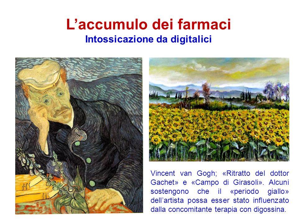 Laccumulo dei farmaci Intossicazione da digitalici Vincent van Gogh; «Ritratto del dottor Gachet» e «Campo di Girasoli».