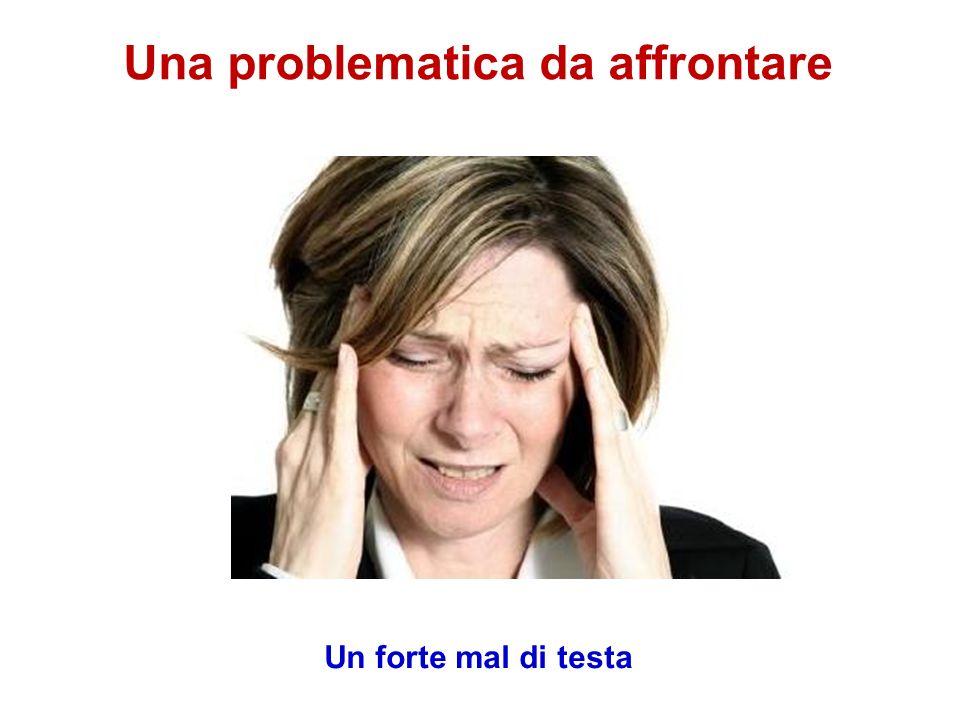 Una problematica da affrontare Un forte mal di testa