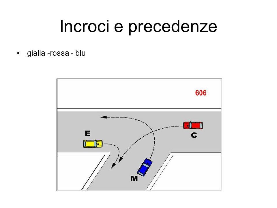 Incroci e precedenze gialla -rossa - blu