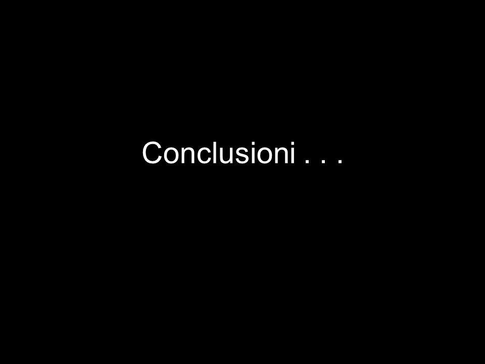 Conclusioni...
