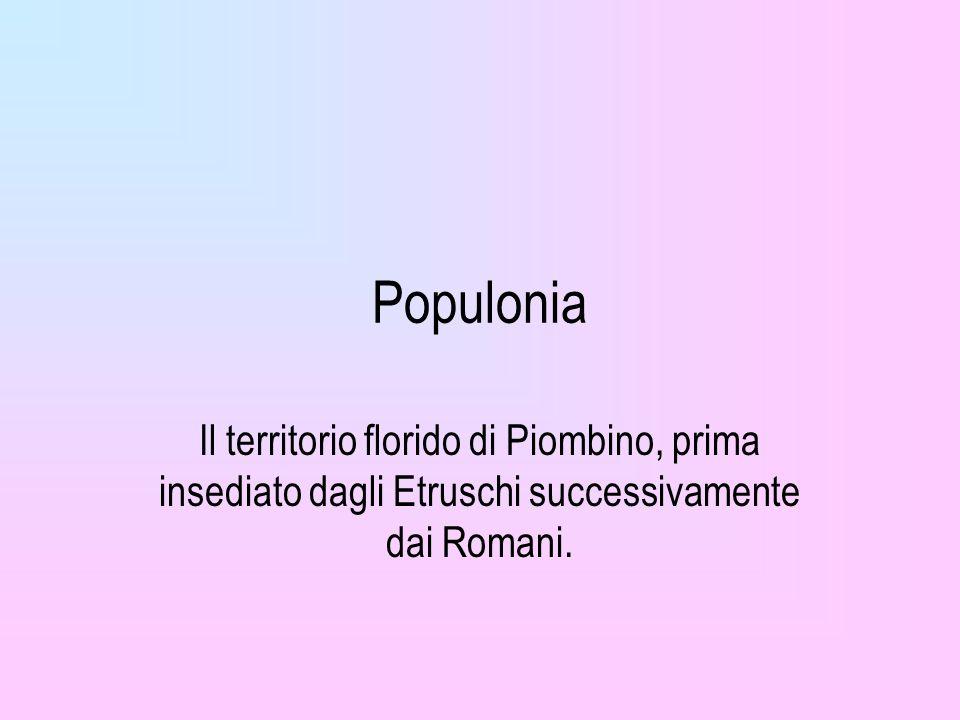 Populonia Il territorio florido di Piombino, prima insediato dagli Etruschi successivamente dai Romani.