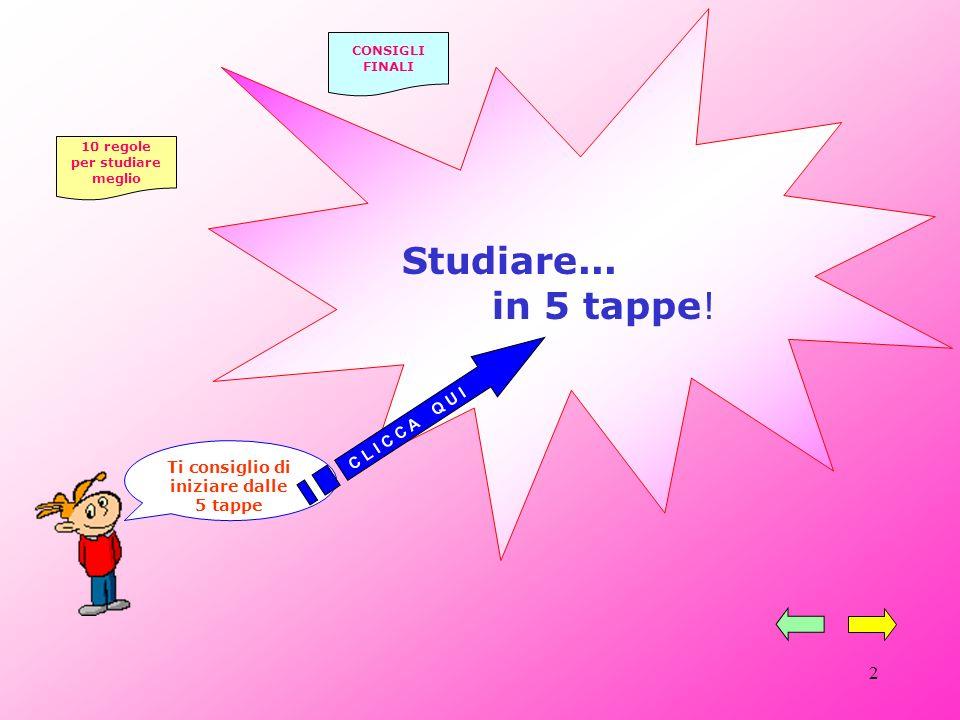 2 Ti consiglio di iniziare dalle 5 tappe Studiare...