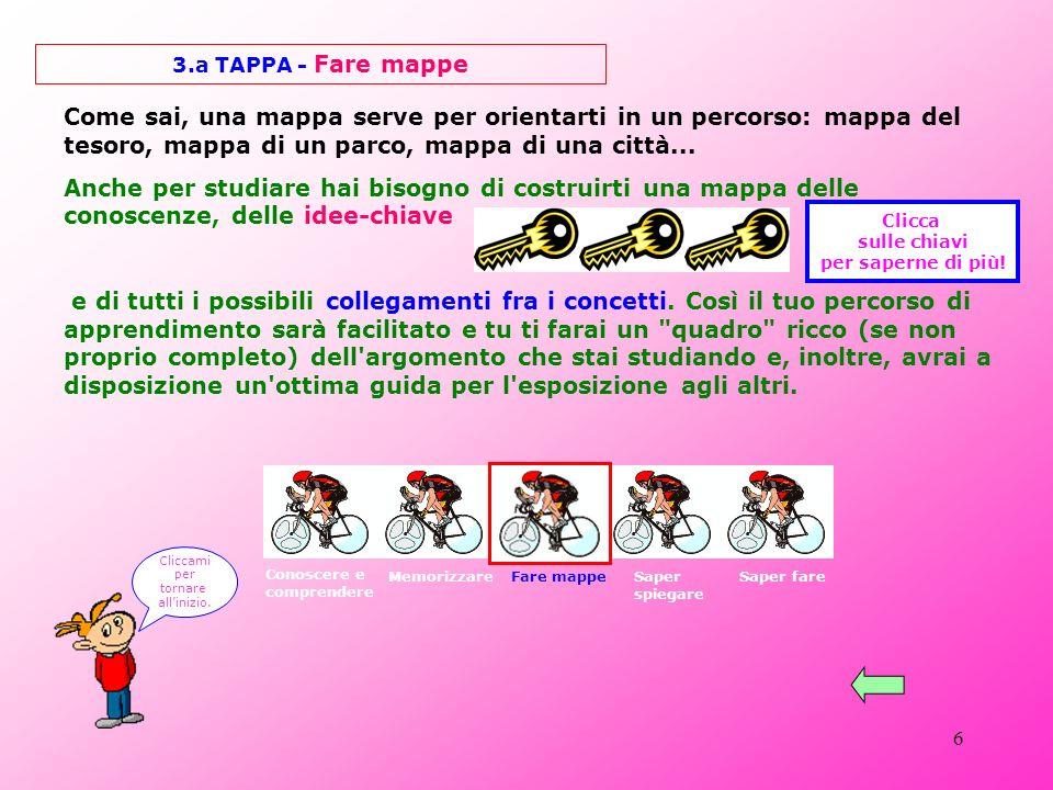 16 Le mappe concettuali 5 ESEMPI DI MAPPE ARRICCHITE torna alla tappa Cliccami per tornare allinizio.