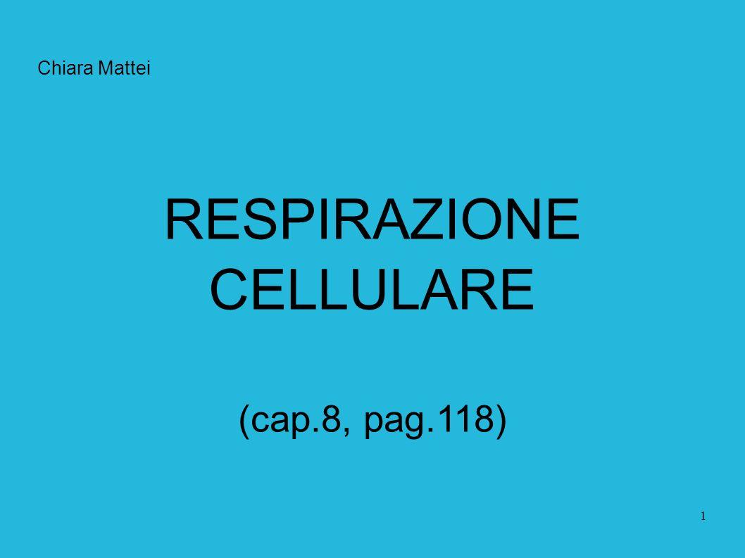 1 Chiara Mattei RESPIRAZIONE CELLULARE (cap.8, pag.118)
