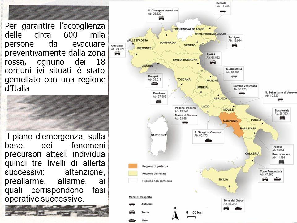 vulcani italiani15 Attenzione: scatta al verificarsi di variazioni significative dei parametri fisico- chimici del vulcano; viene attivata la Protezione Civile.