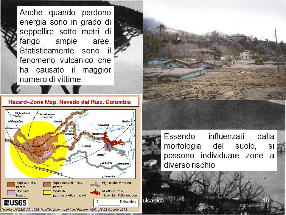 rischio vulcanico10 Anche quando perdono energia sono in grado di seppellire sotto metri di fango ampie aree.