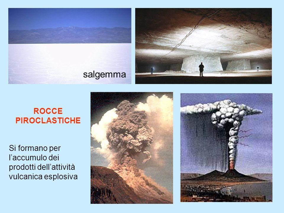 8 salgemma ROCCE PIROCLASTICHE Si formano per laccumulo dei prodotti dellattività vulcanica esplosiva