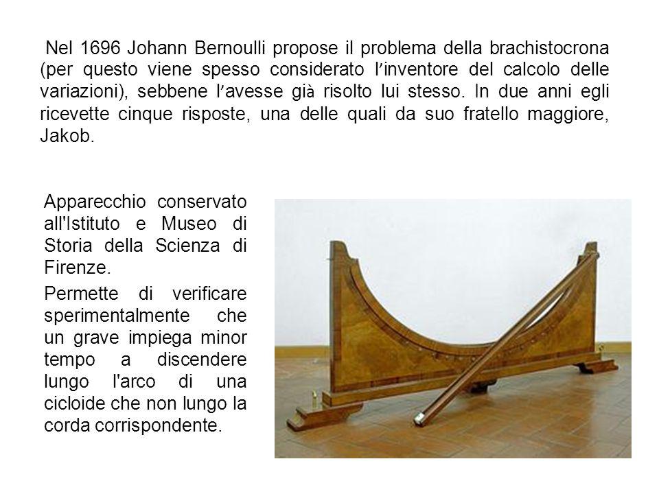Contributi alla matematica Nel 1691 Johann Bernoulli accentuò ancora le tensioni con i suoi fratelli nel momento in cui riusc ì a risolvere il problem