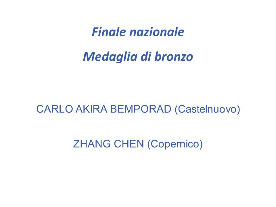 Finale nazionale CAMILLA BRIZZI (Leonardo da Vinci) SIMONE GIANTOMASI (Leonardo da Vinci) LORENZO LUGO (Leonardo da Vinci)