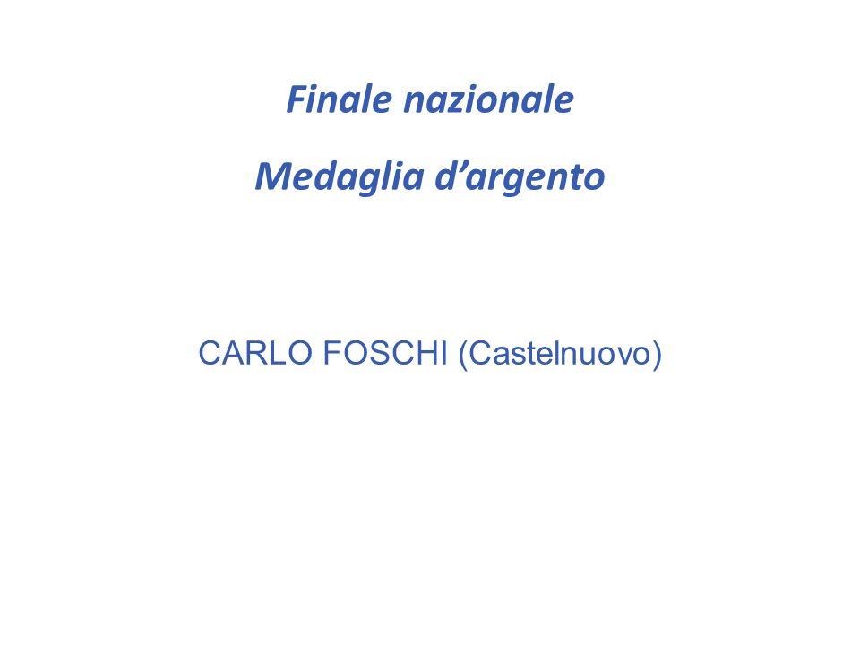 Finale nazionale Medaglia di bronzo CARLO AKIRA BEMPORAD (Castelnuovo) ZHANG CHEN (Copernico)