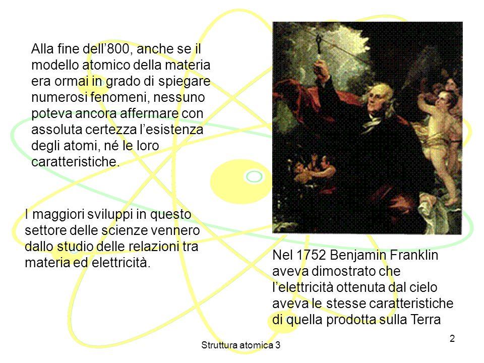 Struttura atomica 3 1 LICEO SCIENTIFICO STATALE LEONARDO da VINCI di FIRENZE CORSO SPERIMENTALE F DOCENTE Prof. Enrico Campolmi STRUTTURA ATOMICA 3