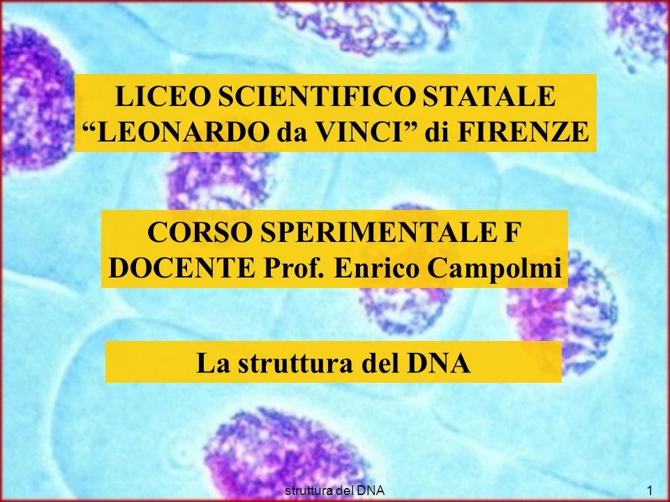 struttura del DNA2 Nel 1865 Mendel pubblica i suoi lavori.