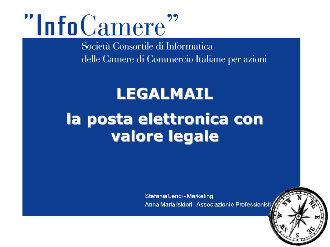 LEGALMAIL la posta elettronica con valore legale Stefania Lenci - Marketing Anna Maria Isidori - Associazioni e Professionisti