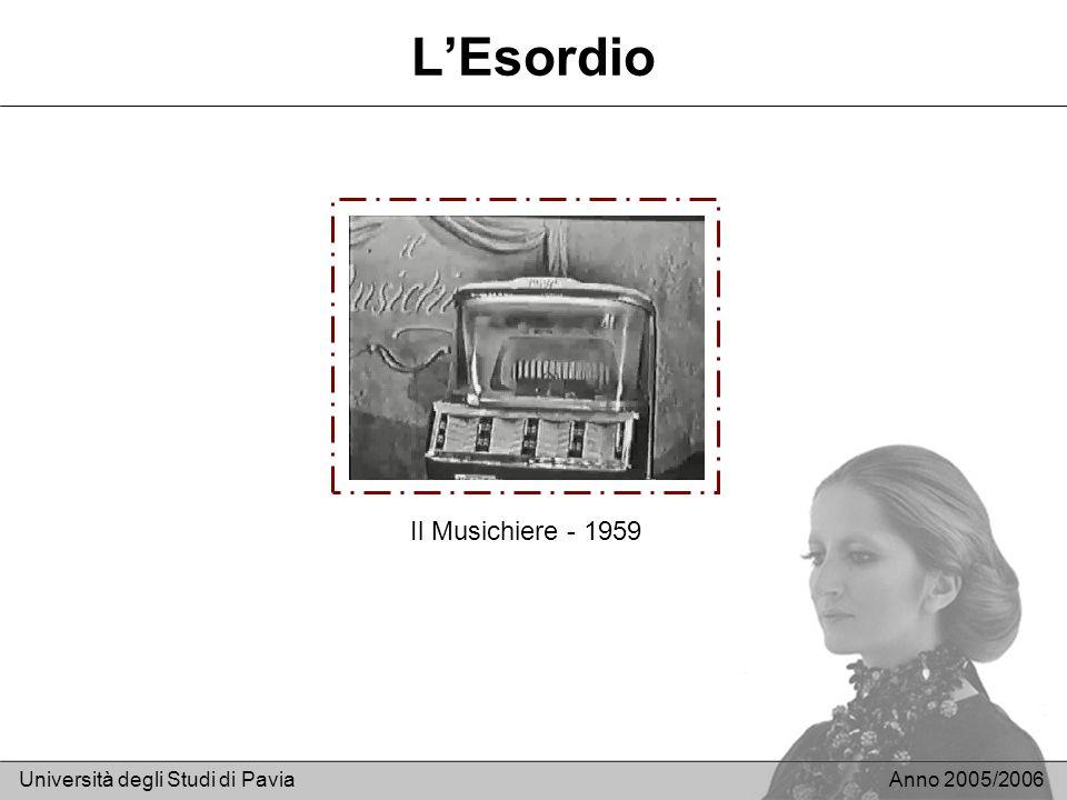 LEsordio Università degli Studi di PaviaAnno 2005/2006 Il Musichiere - 1959